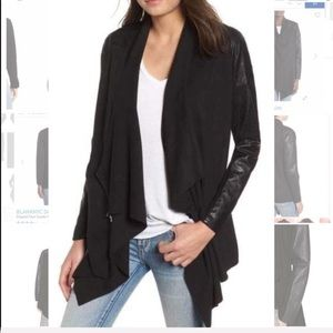 BlankNYC draped suede and leather jacket small